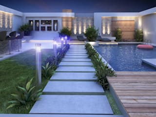 Landscape Design for Private Villa by TK Designs Modern