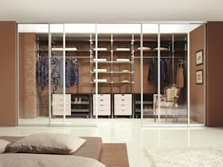 CARE MOBILIARIO MADRID,S.L. Modern style bedroom Glass Transparent