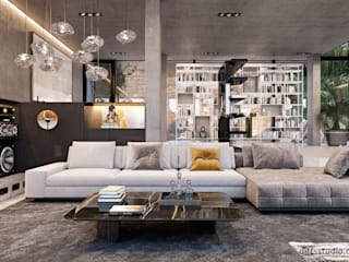 Виталий Юров Industrial style living room
