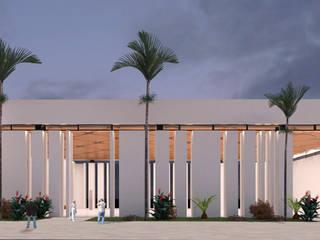 AUDITORIO | Playa del Carmen Q. Roo: Casas de estilo  por EMERGENTE | Arquitectura, Ecléctico