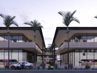 PLAZA 115 | Playa del Carmen Q. Roo: Centros Comerciales de estilo  por EMERGENTE | Arquitectura, Minimalista