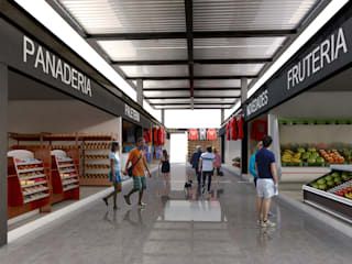 MERCADO | Puerto Aventuras Q. Roo: Espacios comerciales de estilo  por EMERGENTE | Arquitectura, Ecléctico