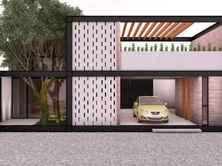 CASA ESTUDIO | Playa del Carmen Q. Roo: Casas unifamiliares de estilo  por EMERGENTE | Arquitectura, Minimalista