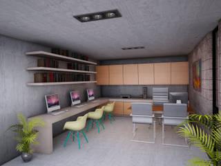 CASA ESTUDIO | Playa del Carmen Q. Roo: Estudios y oficinas de estilo  por EMERGENTE | Arquitectura, Minimalista