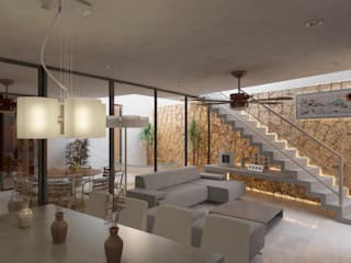 Living room by EMERGENTE | Arquitectura