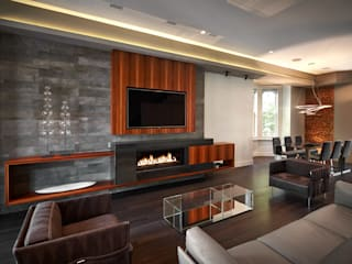 Corcoran House: modern Living room by KUBE Architecture