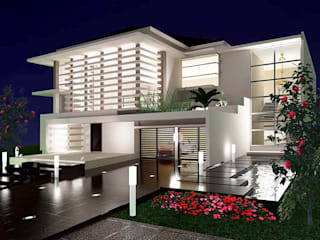 Rumah Tinggal 2 Lantai Kemang: Rumah oleh Adhicitta Karya Megah, Modern