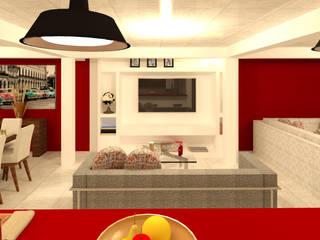 Modern Media Room by Perfil Arquitectónico Modern