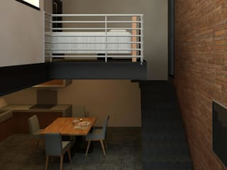 Modern Dining Room by Perfil Arquitectónico Modern