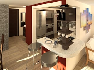 Modern Kitchen by Perfil Arquitectónico Modern