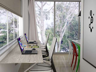 Modern Study Room and Home Office by Elizabeth SJ Modern