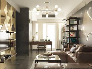 LUXURIOUS MASCULINE APARTMENT @SEASON CITY, WEST JAKARTA Modern Living Room by PT. Dekorasi Hunian Indonesia (DHI) Modern