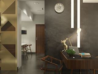 LUXURIOUS MASCULINE APARTMENT @SEASON CITY, WEST JAKARTA PT. Dekorasi Hunian Indonesia (DHI) Modern Study Room and Home Office