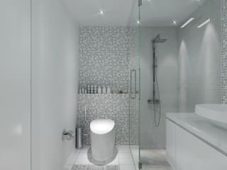 SMART DESIGN FOR LIMITED SPACE @ THE WAVE, EPICENTRUM, KUNINGAN:  Kamar Mandi by PT. Dekorasi Hunian Indonesia (DHI)