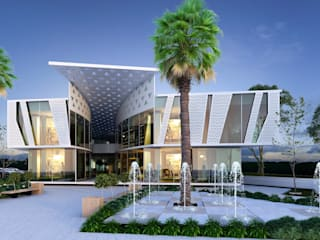 MİNERVA MİMARLIK – YN PARK ALIŞVERİŞ MERKEZİ: modern tarz Evler