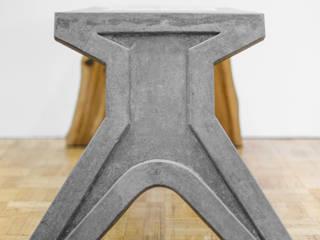 Рабочий стол из дерева и бетона от VILLEEWOOD Лофт