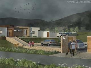 Proceso diseño y construcción Vivienda Premium 115m2 Fundo Loreto de Territorio Arquitectura y Construccion - La Serena Moderno