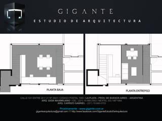Estudio Gigante - Nueva Oficina: Oficinas y Tiendas de estilo  por Gigante ::: Estudio de Arquitectura