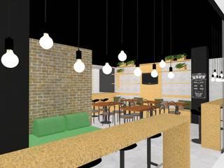 Restaurante : Espaços de restauração  por Priscila Kunenn Arquitectura de Interiores
