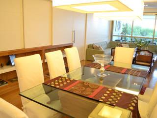 Apartamento S.: Salas de jantar  por Priscila Kunenn Arquitectura de Interiores