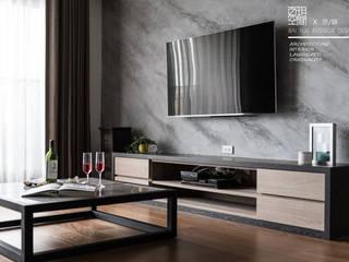 百玥空間設計 ─ 思/靜 ─ 電視牆:  牆面 by 百玥空間設計