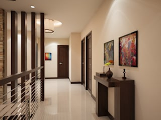 Modern Corridor, Hallway and Staircase by TWINE Interior Design Studio Modern