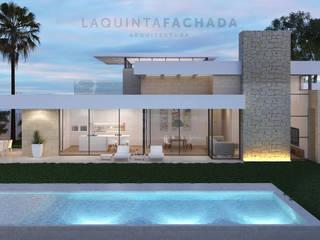 Vivienda Unifamiliar L&M | Olleria de L5F Arquitectura e Ingeniería | La Quinta Fachada Moderno