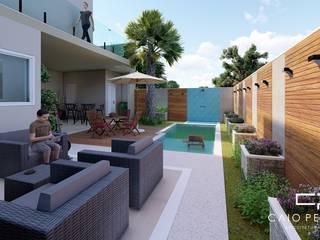 casa moderna sobrado: Piscinas  por Caio Pelisson - Arquitetura e Design