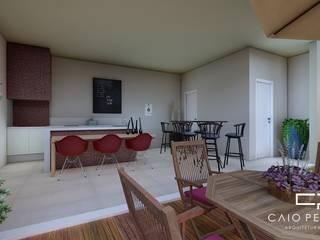 casa moderna sobrado: Salas de jantar  por Caio Pelisson - Arquitetura e Design