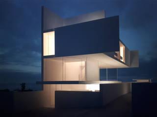 Alçado Poente - Casa Alfredo: Moradias  por Rui Vieira Oliveira Arquitecto