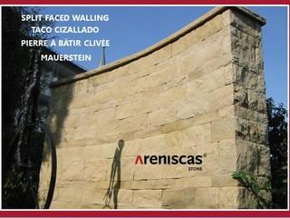 ARENISCAS STONE Giardino in stile rustico Arenaria Marrone