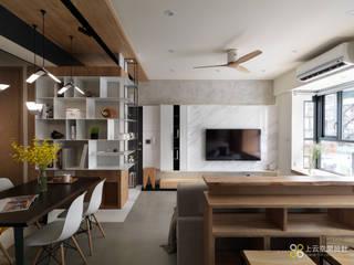上云空間設計 Livings de estilo moderno