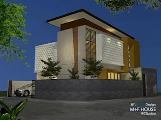 M+F House Alfaiz Design Rumah tinggal Beton Grey