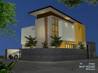 M+F House Alfaiz Design Rumah tinggal Batu White