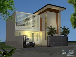 M+F House Alfaiz Design Rumah tinggal Batu Pasir Grey