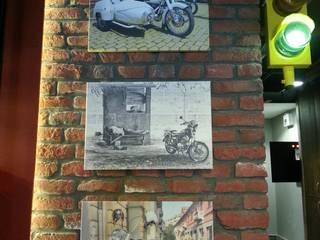 Nida İçMimarlık – MotoGarage Cafe:  tarz Ofisler ve Mağazalar