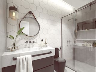Salle de bain industrielle par Juliana Azanha | Arquitetura e Interiores Industriel