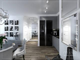 Elegancki Żoliborz: styl , w kategorii Kuchnia zaprojektowany przez MKW Pracownia Architektury