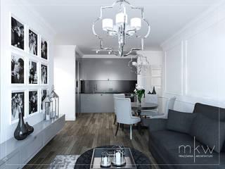 Elegancki Żoliborz: styl , w kategorii Jadalnia zaprojektowany przez MKW Pracownia Architektury