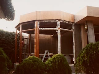 Ampliación Casa Gutiérrez Salones modernos de Van Herck-Arquitectos Moderno
