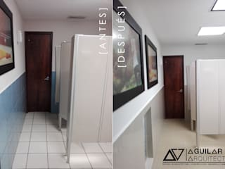 Renovación Módulos de Baños:  de estilo  por Aguilar Arquitectos TRC