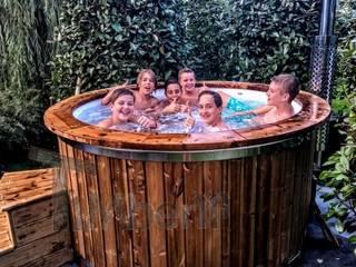 Hottub Glasvezel met elektrische kachel:   door TimberIN hot tubs en sauna's