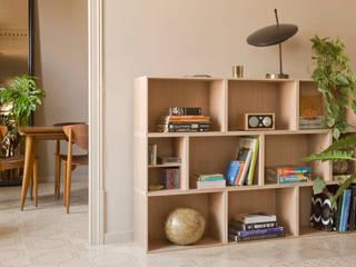 Estantería modular para salón: Salones de estilo  de BrickBox - Portable Shelving Modular System