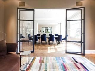 Oslo- drzwi szklane w konstrukcji stalowej od GlassDecorator Eklektyczny
