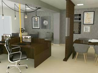 Coworking em Itatiba Espaços comerciais modernos por Daniela Ponsoni Arquitetura Moderno
