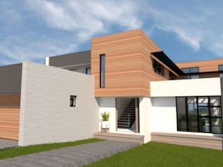A4AC Architects Detached home Bricks Grey