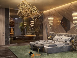 Частный коттедж: Спальни в . Автор – ЭлитДизайн - студия дизайна интерьера
