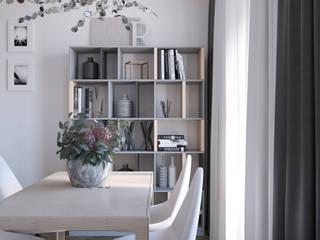 Livings de estilo moderno de Студия дизайна и визуализации интерьеров Ивановой Натальи. Moderno