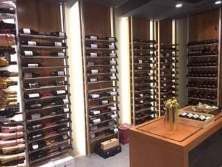 Millesime Wine Racks Cantina moderna Alluminio / Zinco Grigio