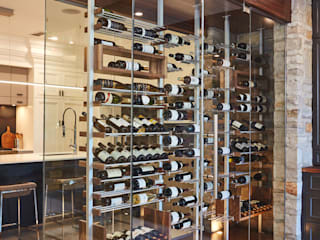 Millesime Wine Racks Modern Home Wine Cellar Aluminium/Zinc Metallic/Silver